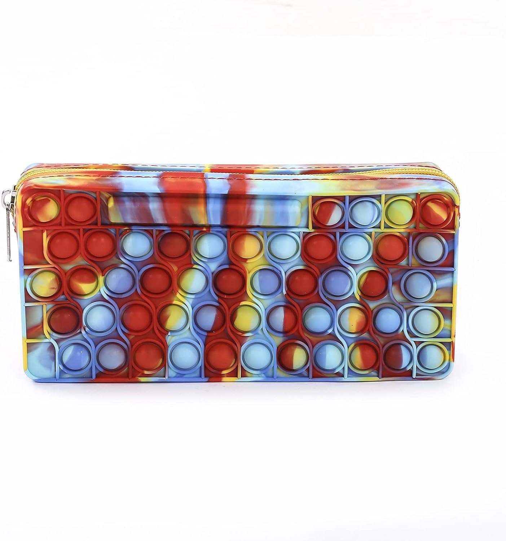 Silicone Pop Pencil Case Portable Bag Max 76% OFF Organizer with Same day shipping Pen Zipper