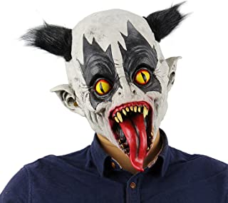Halloween Latex Clown Mask with Hair Costume Party Props Masks Batman Mask Horrific Demon Scary Devil Flame Zombie Mask