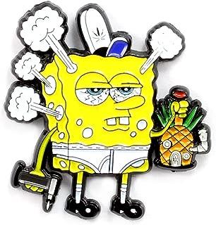 Spongebob Pineapple Bong Pin Trippy 420 Alt Art Stoner Pin