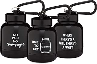 OnMyWhey - Portable Protein and Supplement Powder Funnel Keychain - Punny Variety 3-Pack