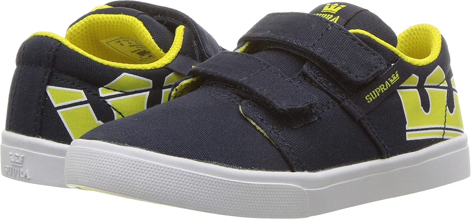 Supra Infants Toddler Stacks II V Navy Yellow White Shoes Size 7
