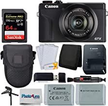 $769 » Canon PowerShot G7 X Mark III Digital Camera (Black) + 64GB Extreme Pro Memory Card + Camera Case + Extra NB-13L Battery + Tabletop Tripod/Pistol Grip + USB Card Reader + Wallet + Lens Cleaning Pen