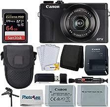 $769 Get Canon PowerShot G7 X Mark III Digital Camera (Black) + 64GB Extreme Pro Memory Card + Camera Case + Extra NB-13L Battery + Tabletop Tripod/Pistol Grip + USB Card Reader + Wallet + Lens Cleaning Pen