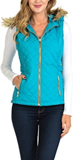Womens Quilted Zip Up Lightweight Padding Vest