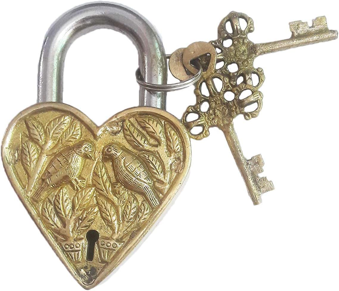 High material Brass Door Padlock Fully Functional Antique with Handmade Design Regular discount