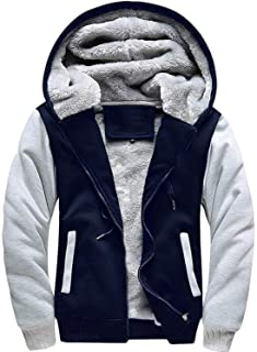ZITY Hoodies Men/Full Zip Casual Active Fleece Sweatshirt Kangaroo Pocket
