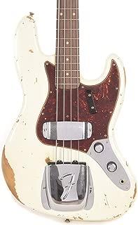 Fender Custom Shop 2019 Time Machine 1961 Jazz Bass Heavy Relic Aged Olympic White
