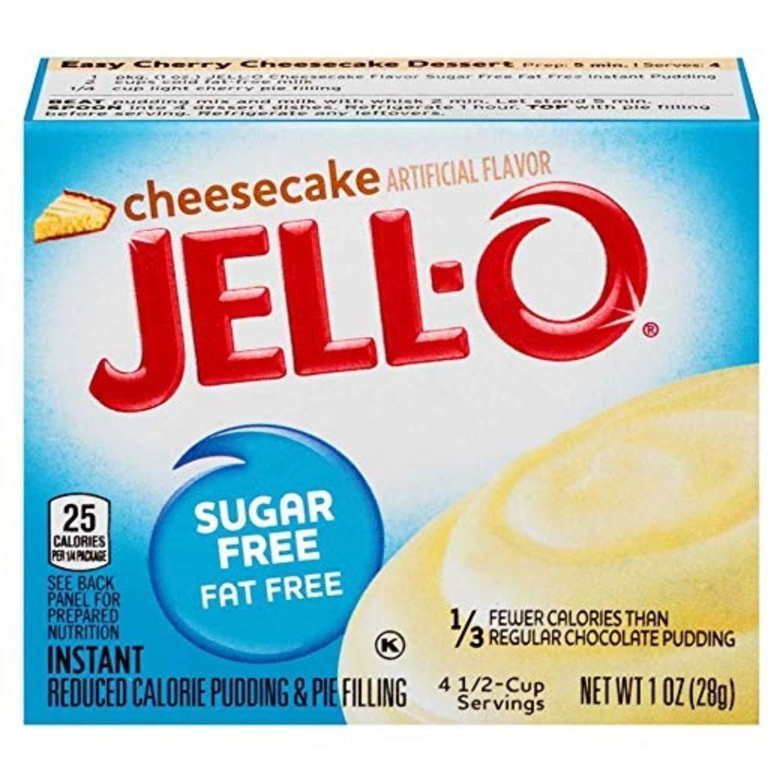 Jell-O Sugar-Free Cheesecake Instant Pudding Mix 1 Ounce Box (Pa