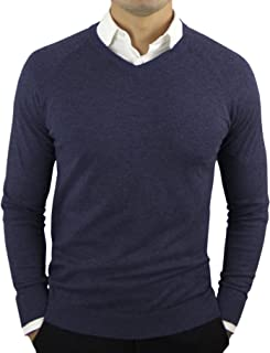 CC Perfect Slim Fit V Neck Sweaters for Men   Lightweight Breathable Mens Sweater   Soft Fitted V-Neck Pullover for Men