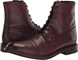Oxblood Washed Dip-Dye Leather