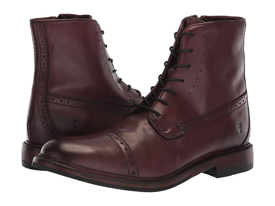 Frye Murray Lace-Up (Oxblood Washed Dip-Dye Leather) Men