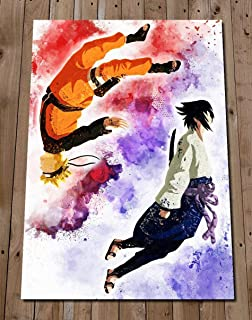 NARUTO SASUKE Poster Gift - Art Watercolour Painting Gift - Wall Decor - Shippuden - Naruto Uzumaki - Sasuke Uchiha - Yin and Yang
