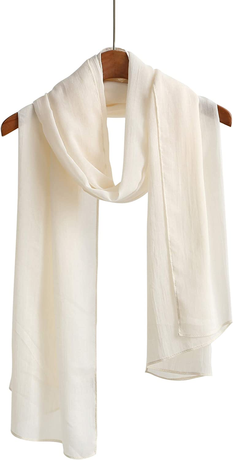 Cotton Feel Scarf Shawl Wrap Soft Lightweight Scarves And Wraps For Men And Women.