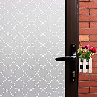Mikomer Non Adhesive Privacy Window Film, Static Cling Glass Film, Frosted Window Cling, Removable Heat Control Anti UV Decorative Door Film for Office and Home Decoration,35 inches by 78.7 inches