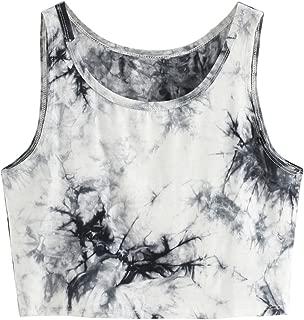 Women's Summer Sleeveless Letter Print Casual Crop Tank Top Shirts