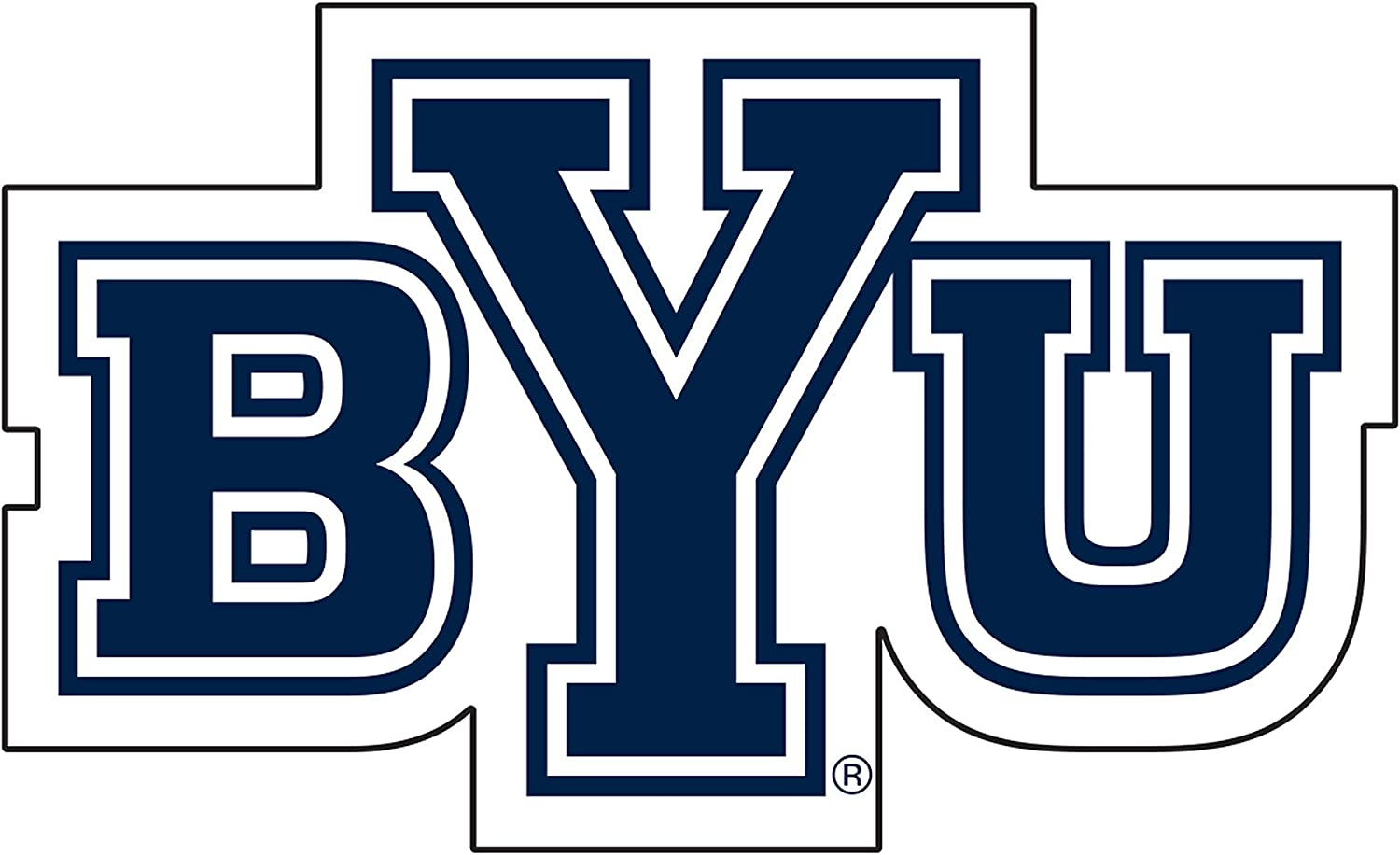 Amazon.com : Craftique BYU Cougars Decal : Sports & Outdoors