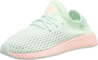 Adidas ORIGINALS Deerupt Runner C Ice Mint/Clear Orange Mesh Child Trainers Shoes