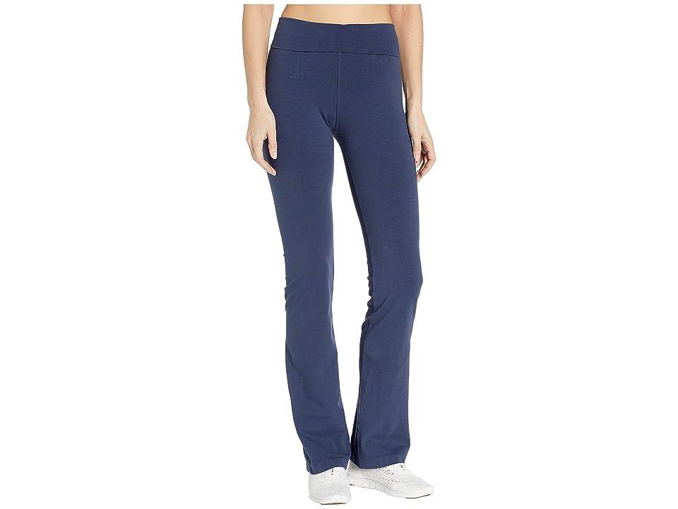 Hard Tail Rolldown Bootleg Flare Pants (Dark Denim) Women