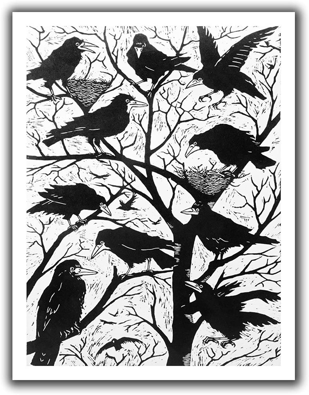 Art Wall Nat Morley Rooks Unwrapped Flat Canvas Artwork, 18 by 22-Inch
