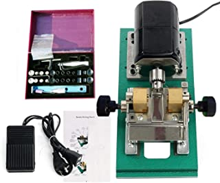 ECO-WORTHY 110V Pearl Drill Jewelry Holder Making Holes Beads Drilling Machine Holing Kit with Vise for Shell Coral Amber Stone Silver