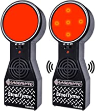 LaserLyte Trainer Target Steel Tyme with Plinking Steel Sound, LED Light and Audio and Visual Training Experience for Defensive Shooting and CCW