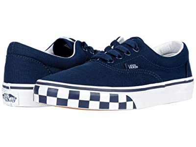 Vans Kids Era (Big Kid) ((Check Bumper) Dress Blue/True White) Boy