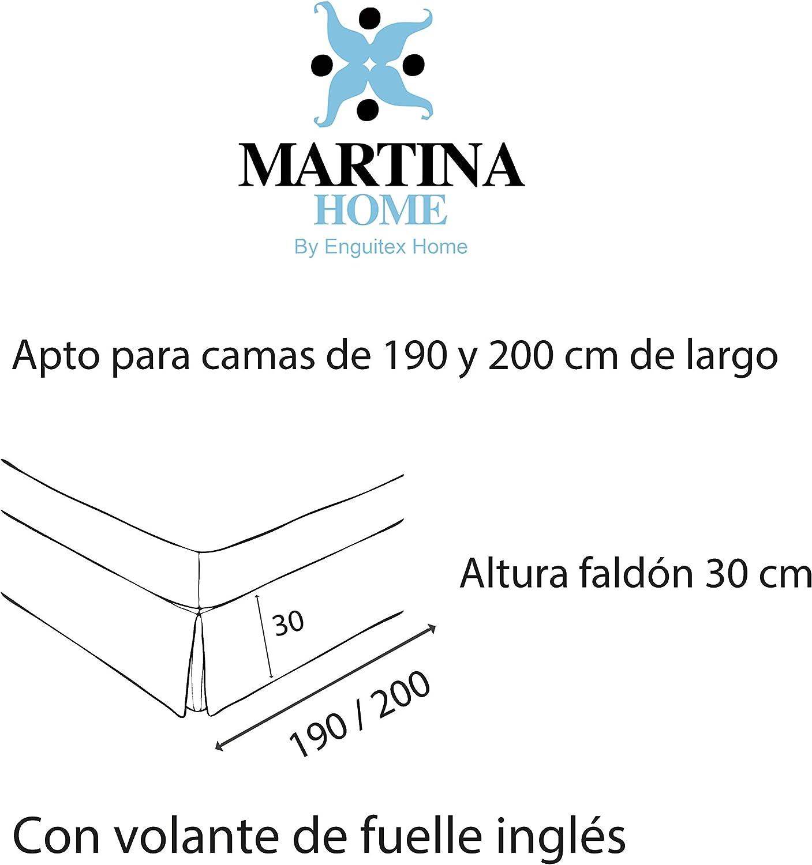 Martina Home Cubre canape, Blanco, Cama de 80