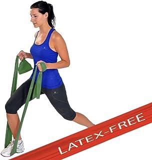 MSD-band latex gratis stark 1,5 m träning medelhög midjemått grön