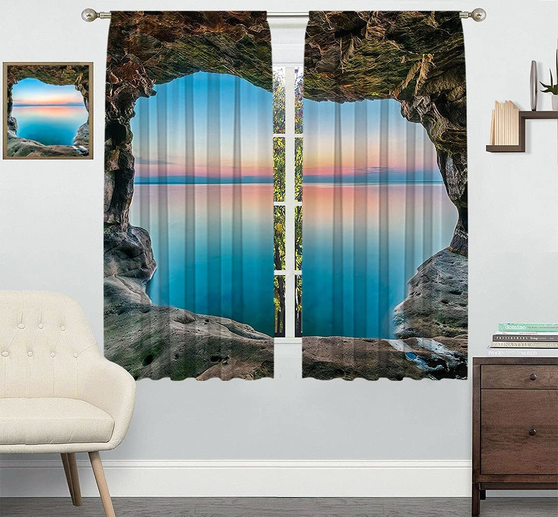 Natural Cave Decor Bedroom Curtains The Max 82% OFF Horizon Fairy of Dealing full price reduction Image