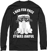 Grumpy Cat Men's Fun Cartoon Long Sleeve T-Shirt