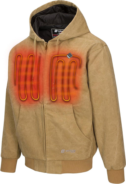 Venture Heat Heated Hoodie with Battery - Electric Sweater Jacket Men Women, Transit 2.0 (Fleece or Canvas)