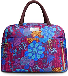 Lunch Bags For Women,InsulatedLunch BoxTote Bag Lunch Organizer Lunch HolderFor Men/Beach/Party/Boating/Office/Fishing/Picnic(Purple)