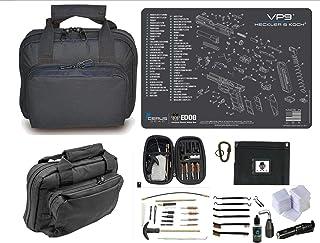 EDOG H&K VP9 Promat & 11.5? Double Gun Range Bag, Soft Padded & Compact & 28 PC Cleaning Essentials & Pro Mat Kit