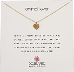 Animal Lover, Heart with Paw Necklace