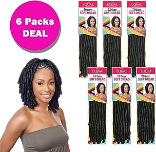 URBAN SOFT DREAD (6 Pack, 2 Dark Brown) - FreeTress Equal Braiding Hair Dreadlocks