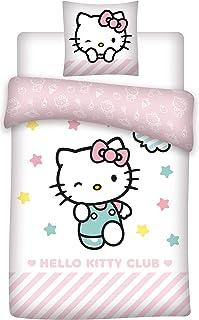 HK Hello Kitty - Juego de Funda nórdica para Cama Individual