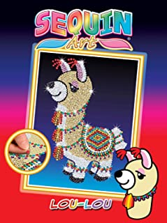 Sequin Art Red Lou-Lou The Llama Sparkling Arts and Crafts Kit