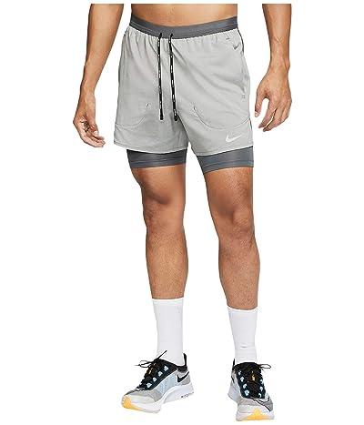 Nike Flex Stride 2-in-1 Shorts 5 (Iron Grey/Iron Grey/Heather/Reflective Silver) Men