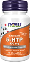 NOW Supplements, 5-HTP (5-hydroxytryptophan) 100 mg, Neurotransmitter Support*, 90 Chewables
