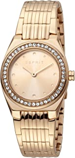 Esprit Spot Rose Gold Dial Stainless steel Analog Watch For Women ES1L148M0075