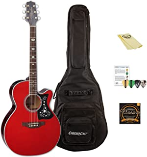 Takamine GN75CE WR-KIT-1 NEX Cutaway Acoustic-Electric Guitar with ChromaCast Gig Bag & Accessories, Wine Red