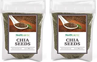 Healthworks Chia Seeds Raw (4lb / 64oz) (2 x 2lb Bags) | Premium & All-Natural | Contains Omega 3, Fiber & Protein | Great...