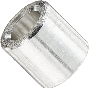 Round Spacer 3//8 OD Aluminum Plain Finish Pack of 10 0.218 ID #12 Screw Size 1 Length