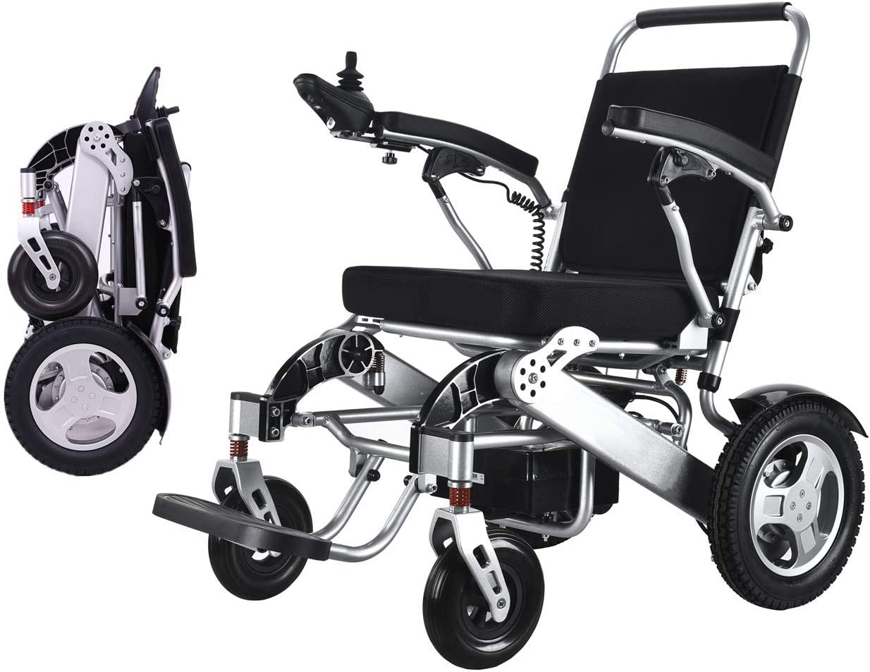 WISGING Folding Electric Powered Popular Max 77% OFF brand in the world Portable Lightweight Wheelchair