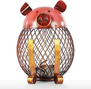 Tooarts Vintage Piggy Bank Children Toy Money Bank, Metal Coin Holder Boy Girls Coin Money Cash Saving Box for Decoration Gift