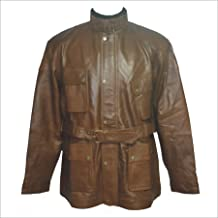 WhitePilotShirts Mens Military Style Belstaff Panther Style Inspired Vintage Brown Leather Jacket Nappa Soft Genuine Leather