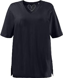 Ulla Popken V-Ausschnitt, Camiseta para Mujer
