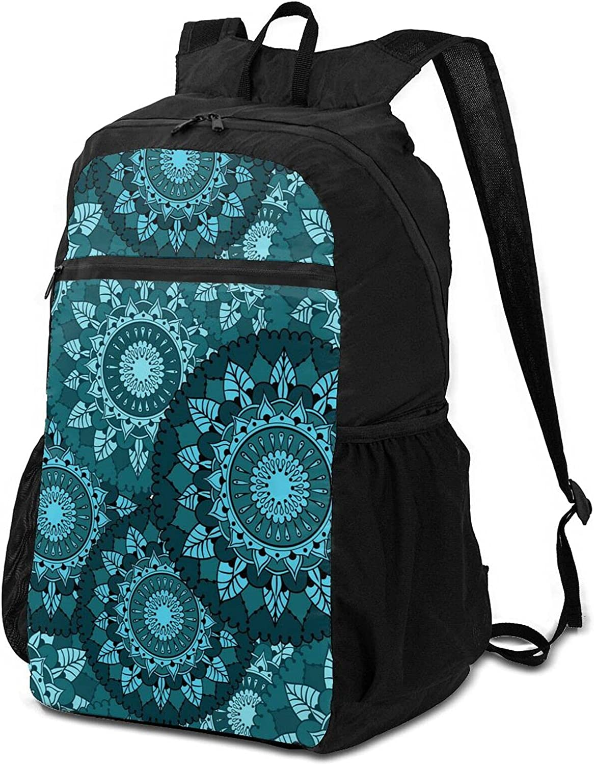 Indefinitely Circular Floral Ornaments Lightweight Backpack Bombing free shipping Packable Wome for
