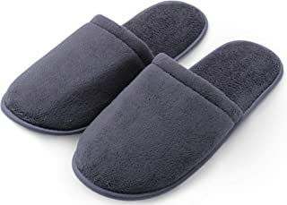 Pembrook Men's Slippers with Memory Foam - Soft Polar Fleece - House Slippers for Adults, Men, Boys