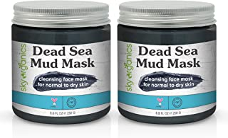 Dead Sea Mud Mask by Sky Organics (8 oz x 2 Pack) For Face, Acne, Oily Skin & Blackheads - Best Facial Pore Minimizer, Red...